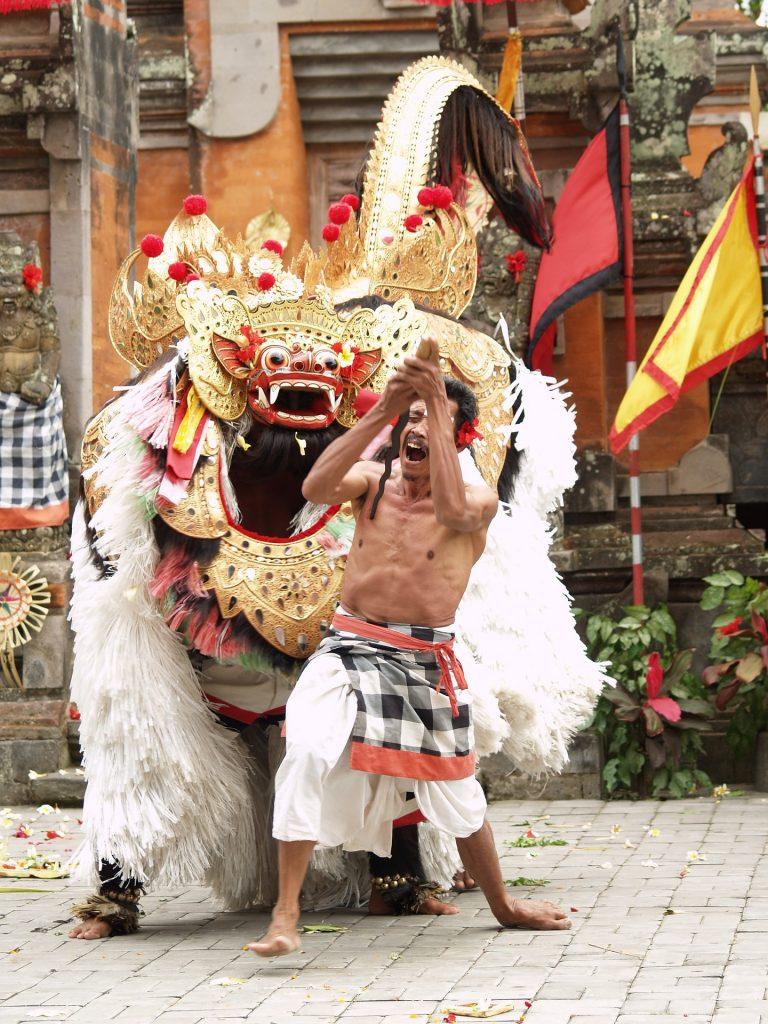 Barong dance in Galungan and Kuningan